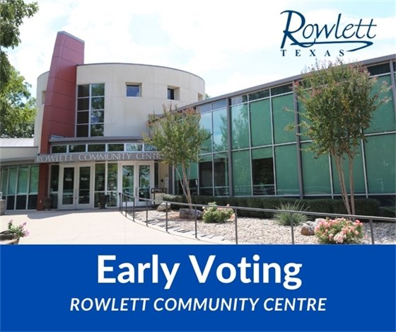 Early Voting Now through April 27 - Vote May 1st